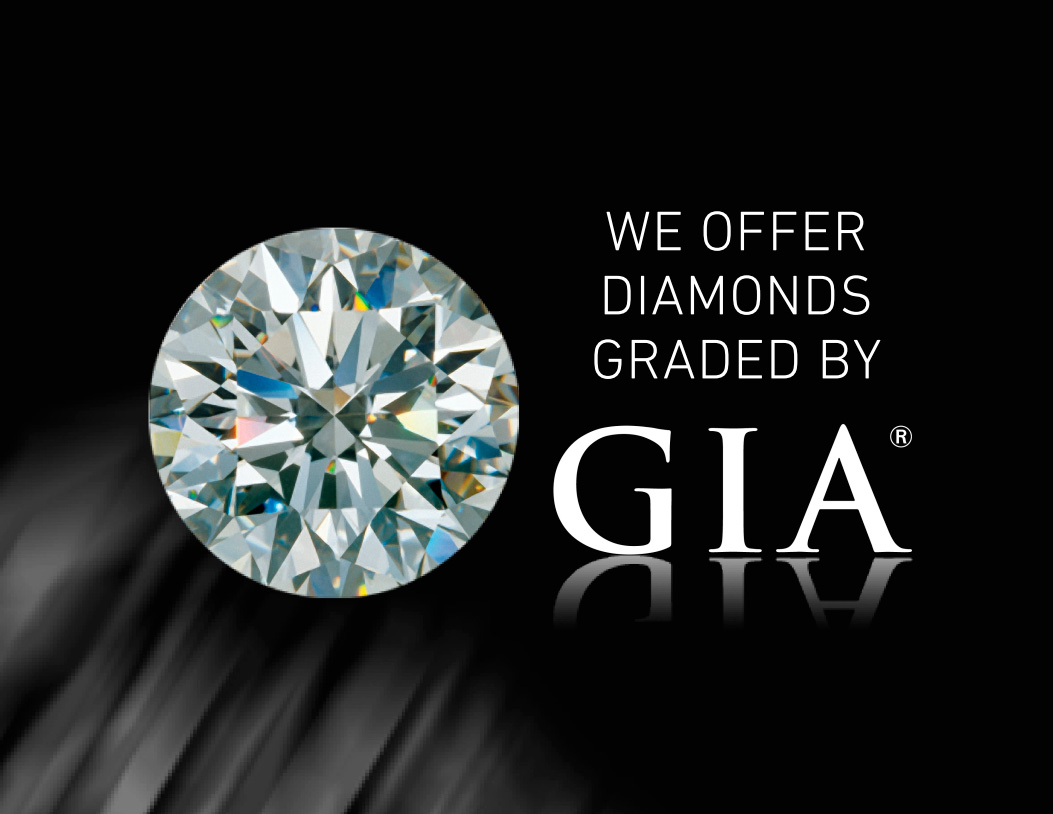 We offer diamonds graded by the GIA Image